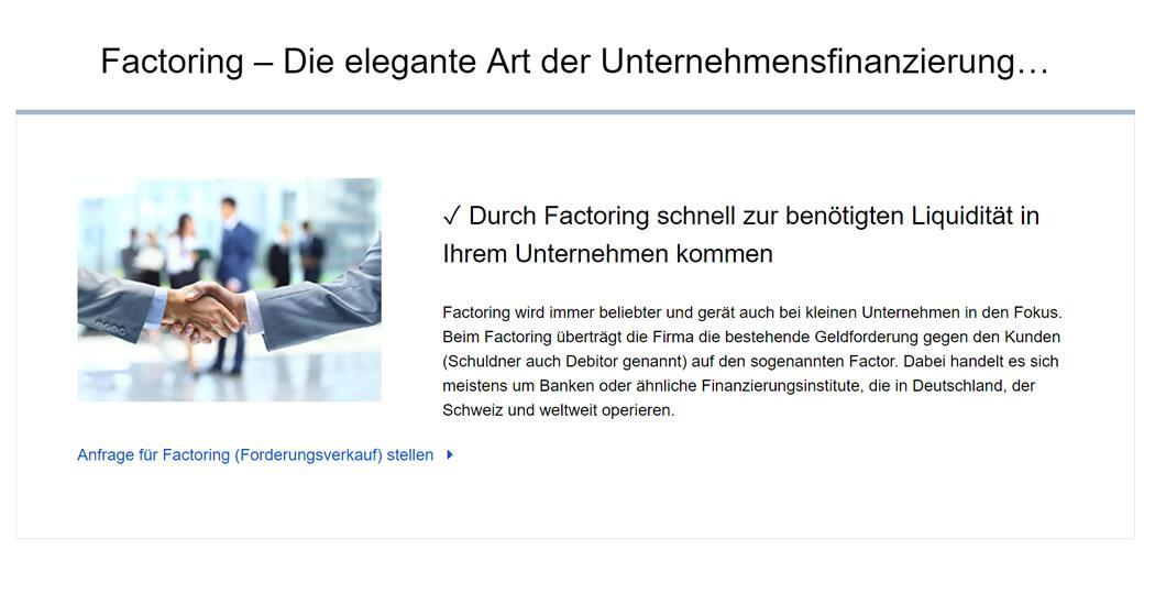 Factoring-Mittelstand Baden-Baden:  Kapital von Geldgebern durch Forderungsverkauf, Debitorenbuchhaltung, Venture Capital, Unternehmensfinanzierung, Factoringbank - 07221